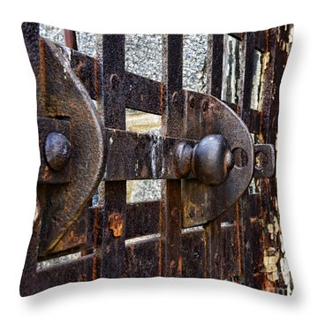 Door To Death Row Throw Pillow by Paul Ward