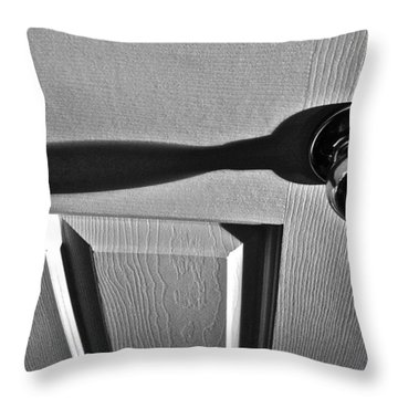 Throw Pillow featuring the photograph Doorknob by Bill Owen