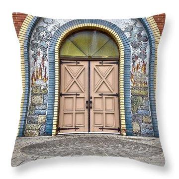 Doors Of Faith  Throw Pillow by Jerry Cordeiro