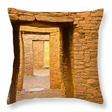 Doorway Chaco Canyon Throw Pillow
