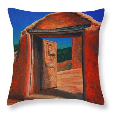 Doorway To Las Trampas Throw Pillow