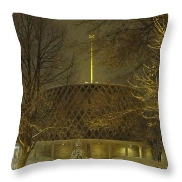 Throw Pillow featuring the photograph Dorcas Chapel by Tiffany Erdman