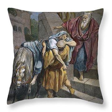 Dore: Good Samaritan Throw Pillow by Granger