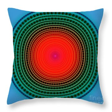 Dots X-ray Throw Pillow by Atiketta Sangasaeng