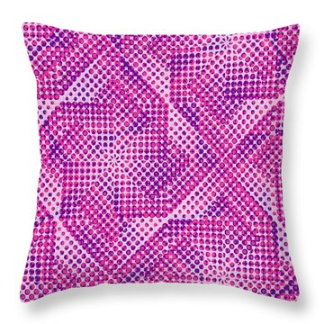Dotty Throw Pillow by Louisa Knight