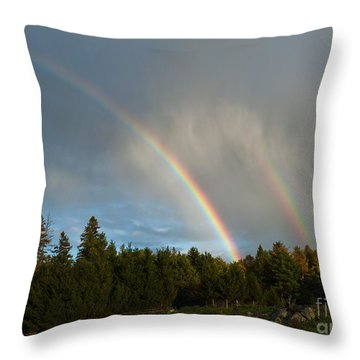 Throw Pillow featuring the photograph Double Blessing by Cheryl Baxter