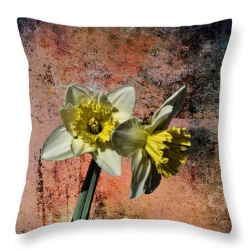 Throw Pillow featuring the photograph Double Daf by Rick Friedle