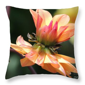 Throw Pillow featuring the photograph Double Floral by Eve Spring
