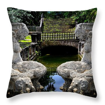 Throw Pillow featuring the photograph Double Mermaids by Harry Spitz