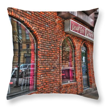 Throw Pillow featuring the photograph Dough Bois Pizza by Michael Frank Jr