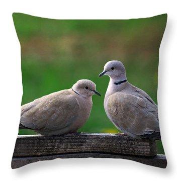 Doves Throw Pillow