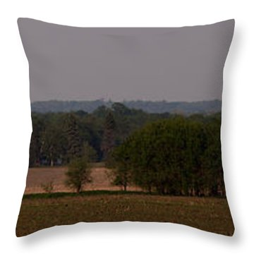Throw Pillow featuring the photograph Down On The Farm by John Crothers