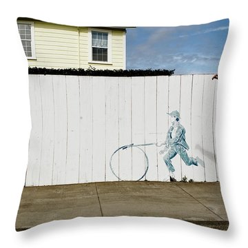 Downhill Buddy Throw Pillow