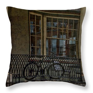 Downtown Boyertown Throw Pillow by Trish Tritz