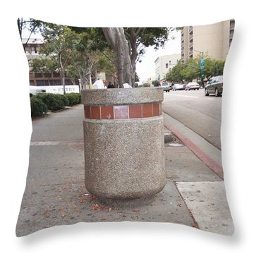 Throw Pillow featuring the photograph Downtown San Diego by Lola Connelly