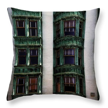 Downtown San Francisco Throw Pillow by Bob Christopher