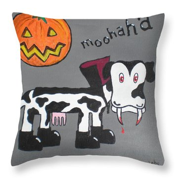 Dracula Throw Pillow by Sheep McTavish