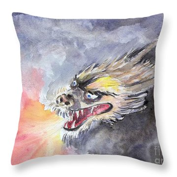 Dragon Of 2012  Throw Pillow
