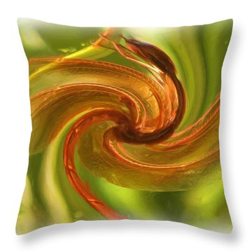 Dragonfly In A Blender Throw Pillow by Feva  Fotos