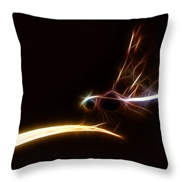 Dragonfly On Golden Blade Throw Pillow by Lynne Jenkins