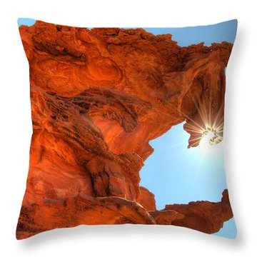 Dragons Breath Throw Pillow by Bob Christopher
