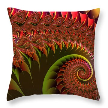 Dragon's Tail Throw Pillow