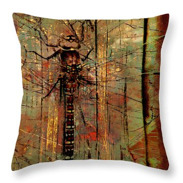 Dragons Wall  Throw Pillow by Jerry Cordeiro