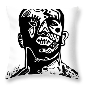 Drake Throw Pillow by Kamoni Khem