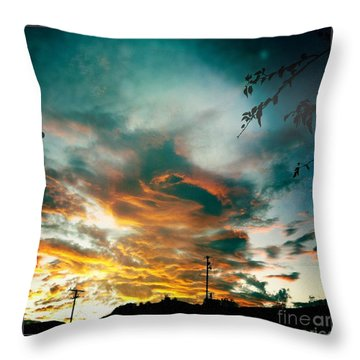 Throw Pillow featuring the photograph Drama In The Sky by Nina Prommer