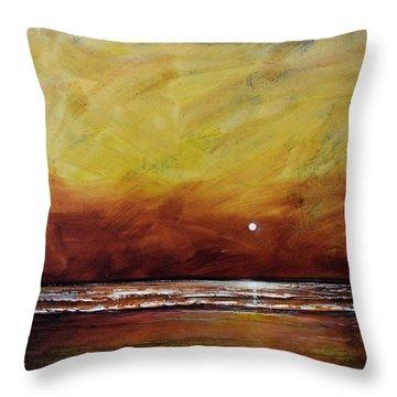 Drama Ocean Throw Pillow by Toni Grote