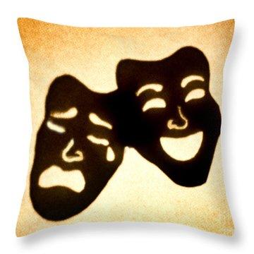 Drama Throw Pillow by Tony Cordoza