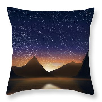 Dramatic Landscape  Throw Pillow