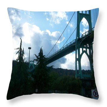 Dramatic St. Johns Throw Pillow