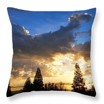Dramatic Sunrise  Throw Pillow