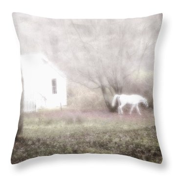 Throw Pillow featuring the photograph Dream Horse by Marianne Campolongo