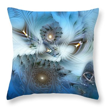 Throw Pillow featuring the digital art Dream Journey by Casey Kotas