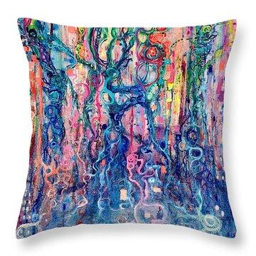 Dream Of Our Souls Awake Throw Pillow by Regina Valluzzi