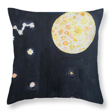 Throw Pillow featuring the painting Dream by Sonali Gangane