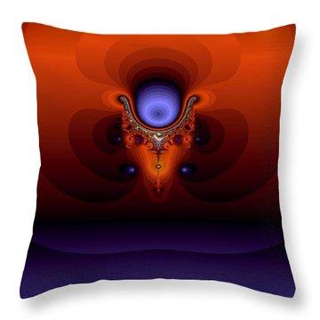 Dreamface Throw Pillow by Helmut Rottler