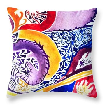 Dreaming In Watercolors Throw Pillow