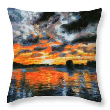 Dreaming Of A Tropical Paradise Detail B Throw Pillow by John Lautermilch