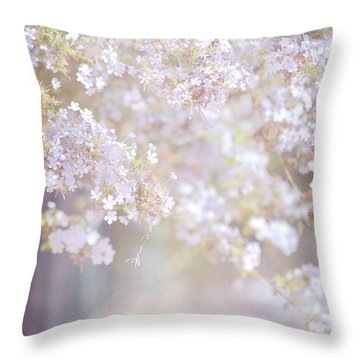 Dreaming Of Spring Throw Pillow by Jenny Rainbow
