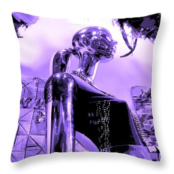 Dreams In Shades Of Purple Throw Pillow by Kym Backland