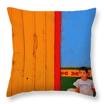 Dreams Of Kids Throw Pillow by Skip Hunt