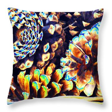 Throw Pillow featuring the photograph Dreamtime Pinecones by Susanne Still