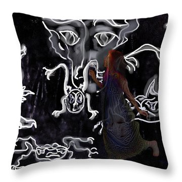 Dreamwalker Strange Encounters In Your Sleep Throw Pillow by Mimulux patricia no No