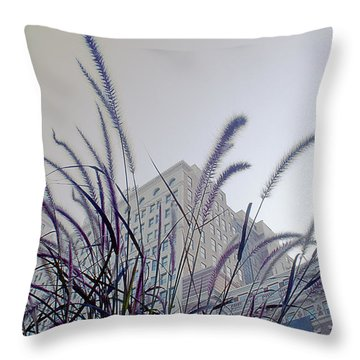 Dreamy City Throw Pillow
