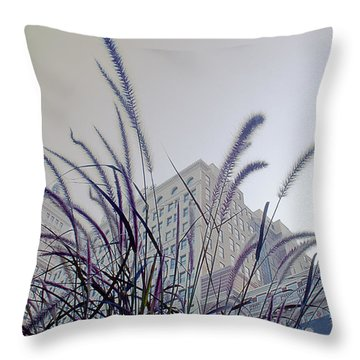 Dreamy City Throw Pillow