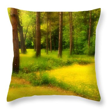 Dreamy Meadow Throw Pillow