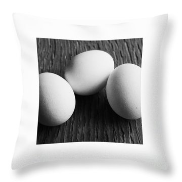 dreierlEi Throw Pillow by Priska Wettstein
